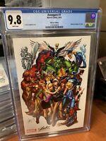 Marvel AVENGERS #1 CGC 9.8 J SCOTT CAMPBELL STAN LEE color EXCLUSIVE VARIANT