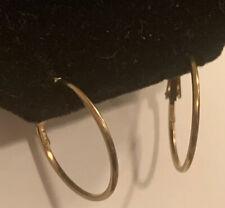 Hoop Earrings Gold Toned