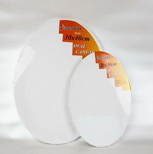 Ovale Leinwand auf Keilrahmen zum Malen 280 g/m² Leinwände Oval für Künstler