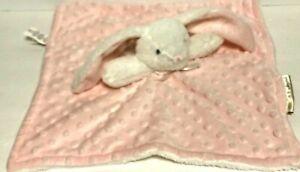 """Super Soft Blanket & Beyond Rabbit Pink Security Lovie Baby Blanket 14"""" x 15"""""""