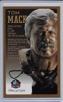 Tom Mack Pro Football Hall of Fame Autographed Bronze Bust Card 100/150