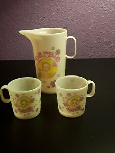 Barbie Childrens Vintage Tea Pitcher and Cups by Chilton Globe Inc