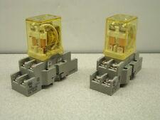 IDEC RH2B-U Relay, 24V, W/Base SH2B-05, QTY OF 2