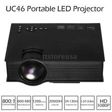 UC46 Portable LCD LED Mini Projector HD 1080P Home Cinema 1200 Lumens 2.4G WIF