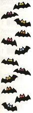 Mrs. Grossman's Stickers - Chubby Bats - Halloween Bats w/Bright Eyes - 4 Strips