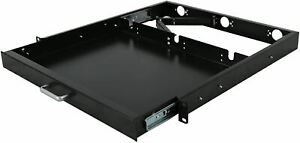 RAISING ELECTRONICS 1U Rack Mount Sliding Keyboard Tray Cantilever for Server Da