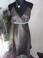 VTG 70s CHOCOLATE  BROWN CHEMISE 38/40 ins BUST NWOT