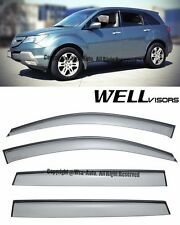For 07-13 Acura MDX WellVisors Side Window Visors Rain Guard with Black Trim