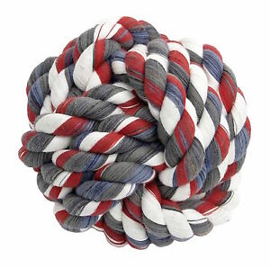 Mammoth Pet Products Monkey Fist Ball Mini 2.5in Rope Ball Random Colors