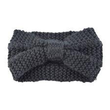 Fashion Womens Bowknot Hair Band Headwrap Winter Crochet Knit Wool Headband GW