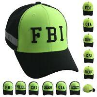 Law Enforcement Baseball Cap Snapback FBI SHERIFF POLICE SECURITY CSI CIA Hat