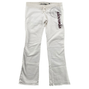 Abercrombie & Fitch White spell out sweatpants SIZE Large wide straight leg