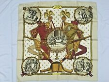 "Vintage HERMES Paris ""Napoleon"" Women's Silk Scarf 90 X 90 CM"