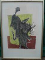 OLLE SVANLUND 1909-1996 LITHOGRAPHIE  # MODERN ART #ABSTRAKTE KOMPOSITION