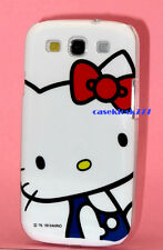 for samsung galaxy S3 cute kitten kitty hard case white blue red bow i9300 siii