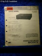 Sony Service Manual ta DS 70 amplifier (#3606)