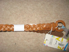 NEW WOMEN'S TAN BROWN LEATHER ANIMAL MILA BELT BNWT SIZE SMALL MEDIUM S/M NEW