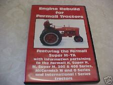 IH Farmall Tractor ,H,M,300,400,SupersTractor Engine Rebuild DVD guide manual