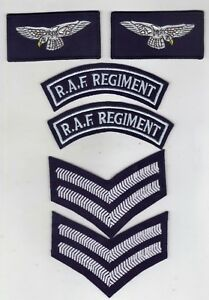ROYAL AIR FORCE REGIMENT SET OF INSIGNIAS FOR A CORPORAL SET OF 3