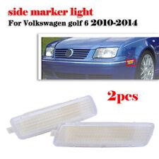 Pair Front Bumper Side Marker Light Clear Lens For VW MK6 JETTA GOLF 2010-2014