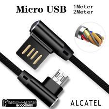 La piegatura L 90 ° Micro Ricarica USB cavo caricabatteria per sincronizzazione dati per telefoni Alcatel