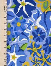 Wild Child Passionate blu  FREE SPIRIT 100% Cotton Fabric priced by the 1/2 yard