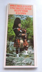 1984 Royal Mint Brilliant Uncirculated Scottish £1 Presentation Pack