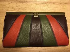 NORDSTROM Genuine Leather Wallet Clutch Organizer Multi-color New