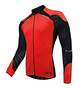 Funkier Force Long Sleeve Cycling Jersey / Top - Red - J730