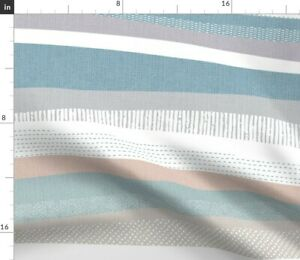 North Soft Stripe Water Snow Sand Waves Landscape Spoonflower Fabric by the Yard