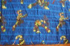 Vintage Teeage Mutant Ninja Turtles Twin Flat Sheet & 2 Dualside Pillowcases