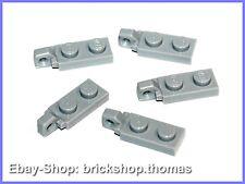 Lego 5 x Scharniere Gelenk grau - 44301 - Hinge Light Bluish Gray - NEU / NEW