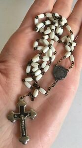 Vintage Rosary With Sacred Heart Centrepiece