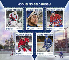 Guinea Bissau 2017 Ice Hockey Hoquei No Gelo Russia S/S GB17501