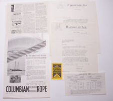 1933 Lamson Goodnow Hardware Age NYC Order Form ADs Sticker Ephemera L350D