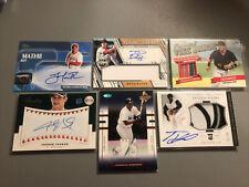 MLB Baseball Auto Jersey Lot- Charles Johnson World Series, Jarrod Parker, Vieir