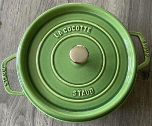 Staub — Discontinued Color Pesto Green — Round Cocotte 4.5 QT/26 CM — New $250
