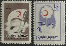 Turkey 1954,1956 Red Crescent donation seal(different color to Postal Tax stamp)