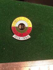 Enamel Badge Lawn Bowls Bowling Roundwood Park B.C Diamond Jubilee 1924 - 1984