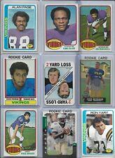 Minnesota Vikings Vintage Lot (42) Different w/ Rookies Foreman Tarkenton Eller