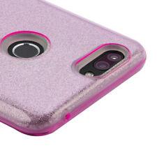 For ZTE SEQUOIA / BLADE Z MAX Z982 - Pink Glitter Sparkle Rubber TPU Case Cover