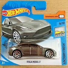Hot Wheels Tesla Model 3 - metallic grey