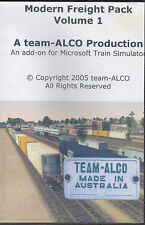 TEAM ALCO MODERN FREIGHT PACK CD FOR ADD ON MICROSOFT TRAIN SIMULATER