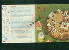 Altes Rezept-Faltblatt Reese Rezepte 1954 Zeichnungen Ostern Gebäck Torte Hameln