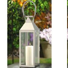 Large Silver tone Lantern Stainless Steel Candle Holder Wedding Centerpieces