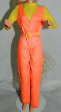 Vintage Barbie 1974 Sun Valley Yellow Orange Ski Suit Jumpsuit