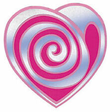 DIVA DAISY GIRLS PINK HEARTS 4 x LARGE STICKAROUND STICKERS matches the  BORDER
