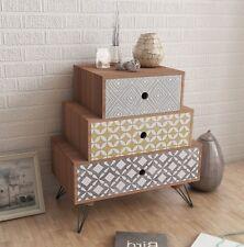 Industrial Side Table Room Chest Drawers Vintage Retro Furniture Bedside Cabinet