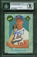 Braves Chipper Jones Signed 1990 Classic Draft Picks #1 RC Auto Card BAS Slabbed