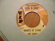 VIP 45 RECORD/HEARTS OF STONE/YESTERDAY'S LOVE IS OVER/IT'S A LONESOME ROAD/ VG